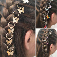 Bohemian 6Pcs Butterfly Pendant Hair Clip Hairpins Girl Braid Hair Accessor N_N