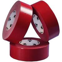 """9 Mil 2"""" x 60 Yds Industrial Utility Grade Duct Tape Red 24 Rolls Free Ship"""
