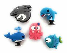 5pcs 3D Dolphin Whale Fish Shoe Charms for Crocs Clog Shoes Bracelets Gift