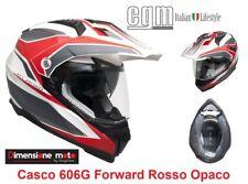 Casco MOTARD Doppia Visiera CGM 606G FORWARD Rosso Opaco Taglia M 57/58 cm