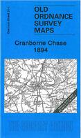 OLD ORDNANCE SURVEY MAP CRANBORNE CHASE 1894 FORDINGBRIDGE FARNHAM RINGWOOD