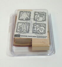 Stampin Up Winter Patches Rubber Stamps Boxed Set NIB