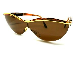 FENDI Sunglasses Woman Made IN Italy Vintage Ages 80 Deleted Brown