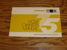 1975 Chevrolet Nova Owners Operators Manual 75 Chevy
