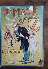 L Frank BAUM -- The Magic of Oz -- 1919 12 color illustrations blue cloth cover