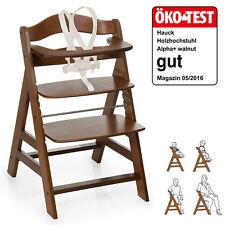 Hauck Hochstuhl Holz Baby Kinder Alpha + Plus - Walnut  / bis 90 kg, verstellbar