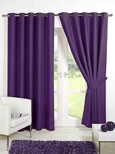 Thermal Blackout Door Curtain Plum / Purple 66'' x 84'' Eyelet Ring Top