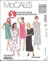 8282 UNCUT Vintage McCalls Pattern Misses 1 Hour Knit Dress SEWING OOP Summer