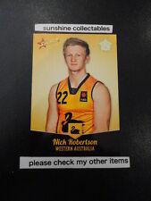 2013 SELECT AFL CARD FUTURE FORCE NO.98 NICK ROBERTSON WESTERN AUSTRALIA