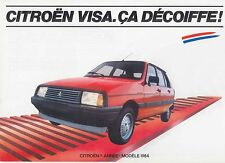 Citroen Visa Club 11 e re Gt Decapotable 1983-1984 Francesa Original folleto de ventas