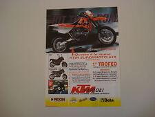 advertising Pubblicità 1998 MOTO KTM SUPERMOTO 620