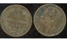 ITALIE 10 centesimi  1894 BI    ( bis )
