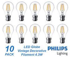 10 x Philips LED 4W Vintage Filament Light Globes / Bulbs B22 Bayonet BC A60