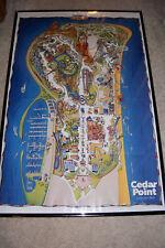"2018 Cedar Point Amusement Park POSTER map 24 x 36"""