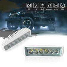 2X 6inch LED Retangular Slim Driving Bar Light For Harley Dyna Softail Sportster