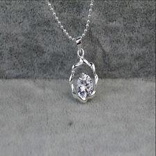 Women Jewelry 925 Sterling Silver Crystal Tornado Pendants Necklaces