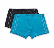 Evolve By 2(X)Ist Men's Micro Mesh 2 Pack Trunks - Charcoal/ Blue Jewel - Small
