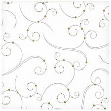 "Hanna K. Signature Collection 40 Count ""Swirls & Pearls"" Paper Lunch Napkin"