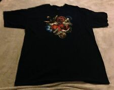 """Doctor Who """"All Of Time And Space"""" XL T-Shirt Navy Blue Sonic Screwdriver"""
