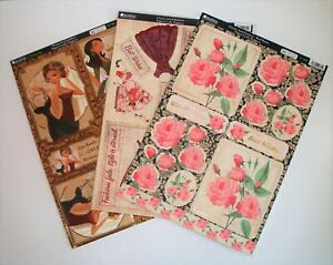 6 x A4 Kanban Foiled  Die Cut Toppers Roses,Classy & Fabulous Domestic Goddess
