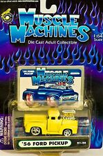 Muscle Machines '56 Ford Pic  01-26 Yellow 1:64 scale Die Collectible