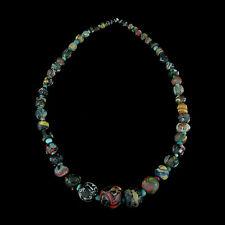 "A Roman to Islamic ""Gabri"" glass bead necklace. x8912"