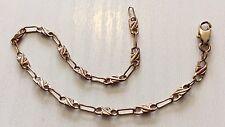 Pretty Ladies Unusual Link Vintage 9ct Rose Gold Bracelet Very Nice