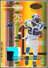 LEAF CERTIFIED 2005 DeSHAUN FOSTER NFL PANTHERS MIRROR GOLD GAME PATCH 3C /25