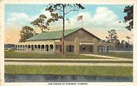 Florida FL Postcard c1910 OLDSMAR The Casino Building Flag