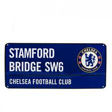 Official  Chelsea FC  COLOUR METAL STREET STADIUM  SIGN   FREE (UK) P+P