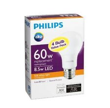 PHILIPS 460311 60 Watt Equivalent Warm White A19 LED Light Bulb - 16 Bulbs