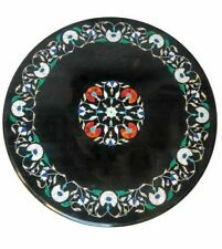 """24"""" Black Marble Table Top Decorative Handmade Work For Home Decor"""