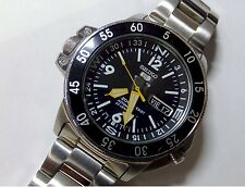 Seiko 5 Compass automatic rotating bezel stainless steel