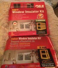 NEW (2) 3M Indoor Window Insulator Kit Insulates (7) 3'x5' Windows +3 Rolls Tape