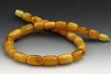 ANTIQUE Vintage Butterscotch Cylinders BALTIC AMBER Short Necklace 19g n150902-1