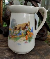 Art Deco Cottage Garden Cider Pitcher Jug Bit of Old England  Ideal Scrumpy