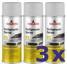 3 x NIGRIN Haftgrund Spray grau 400 ml 74115 Lackspray Primer Grundierung