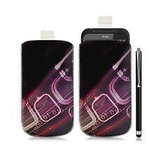 Housse coque étui pochette pour HTC Incredible S avec motif HF07 + Stylet luxe