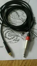 Tattoo rca clip cord jack for rotary or coil not eikon bishop neotat