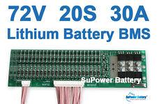 72V 84V 20S 30A 20x 3.6V / 3.7V / 4.2V Lithium ion Li-ion Li-Po Battery PCB BMS