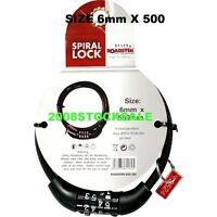 6mm 8mm 10mm 20mm 22mm STEEL CABLE COMBINATION LOCK KEY LOCKS SPIRAL BIKE CHAIN