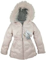 NEW AUTHENTIC ELSY RRP £279 AGE 12 MONTHS GIRLS PINK FUR DOWN JACKET COAT JK11