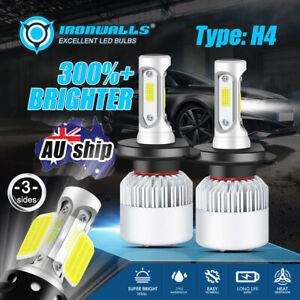 H4 LED Headlight Upgrade Kit White Bulbs High Low For BA BF FG Ford Falcon XR6