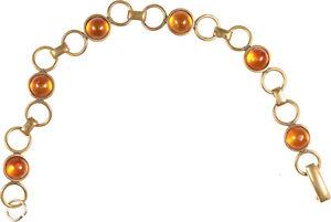schönes Armband mit Bernsteinen Schmuck - vergoldet
