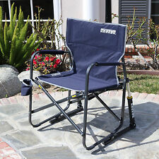 GCI Outdoor Freestyle Rocker Folding Blue Sport Chair with Rocking Motion: 37060