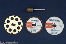 NEW AUTHENTIC DREMEL EZ LOCK EZ402, EZ544, EZ456, EZ476  CUTTING DISC 4 SET