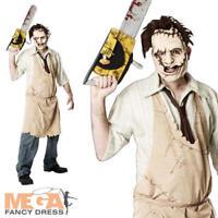 Mens Leatherface Texas Chainsaw Massacre Halloween Fancy Dress Costume + Mask