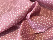 TINY DITSY SMALL BUTTERFLY PRINT 100% COTTON POPLIN FABRIC PINK CRAFT QUILTING