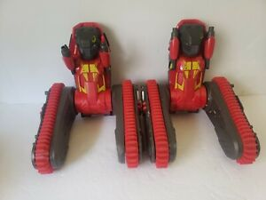 AIRHOGS ROBO TRAX ALL TERRAIN TRANSFORMING FROM TANK- ROBOT NO Remote Lot of 2
