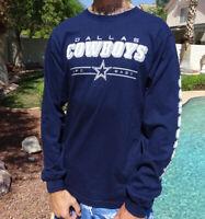 NFL Dallas Cowboys Men's Navy Blue Long Sleeve Logo T Shirt, Medium - NWT